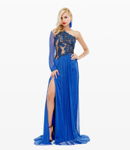 CRISTALLINI COUTURE Silk Evening Dress