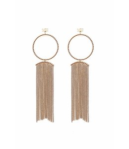 ELISABETTA FRANCHI Earrings With Fringe in Altgold Color