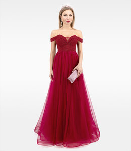 Bordo Color Balldress