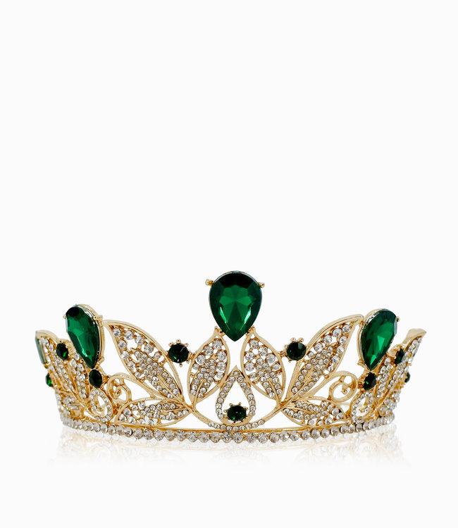 HAND MADE  Green Crown Crystal  Tiara
