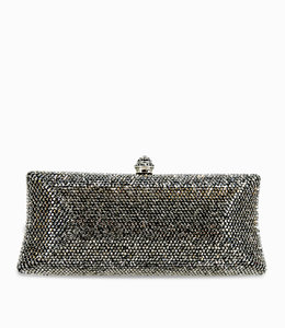 HAND MADE Dunkel Grau  Crystal Clutch