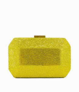 HAND MADE Gelbe  Oversize Kristall Abendtasche