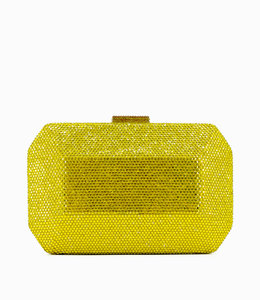 HAND MADE Yellow Oversize  Crystal Evening Bag
