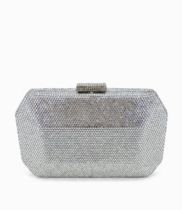 HAND MADE Silver Oversize  Crystal Evening Bag