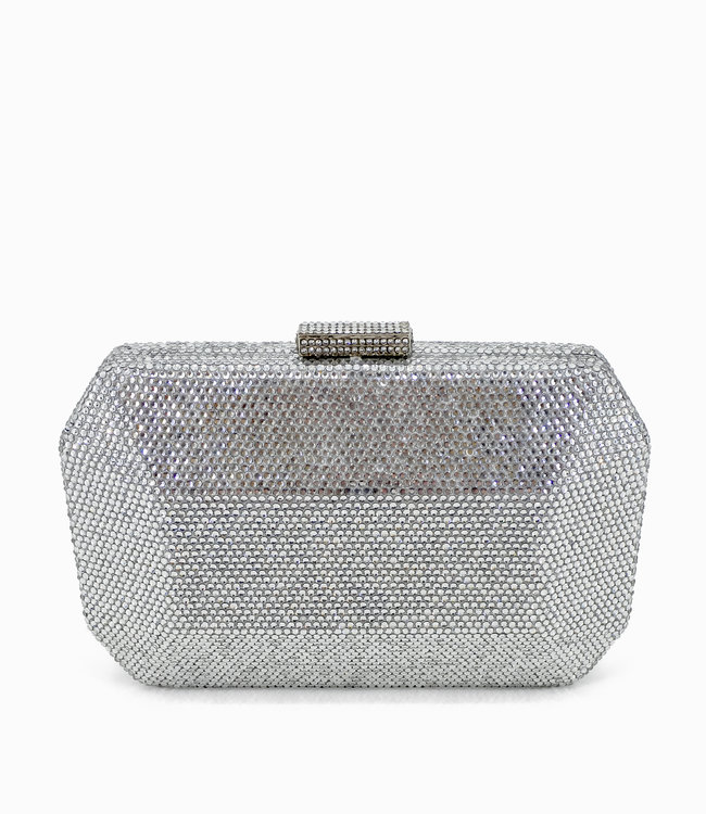 HAND MADE Kristall Clutch In Silber