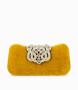 HAND MADE Yellow Velvet  Clutch