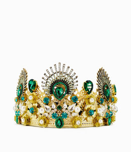 HAND MADE Women Crown Crystal