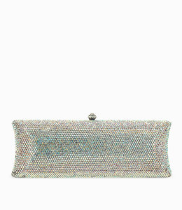 HAND MADE Weiss Silberne Crystal Clutch