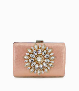 HAND MADE Luxury Diamonds Flower Women Clutch