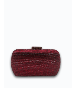 HAND MADE Wine Red  Crystal Evening Bags