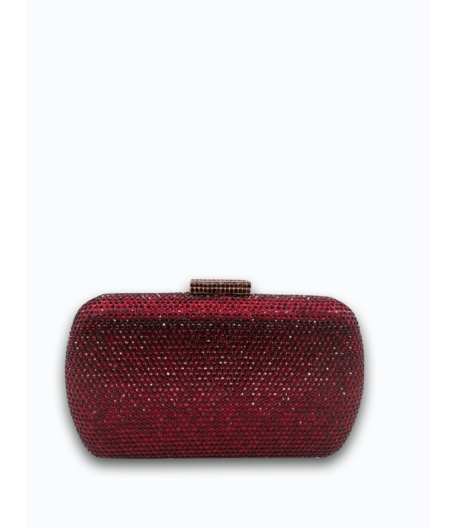 HAND MADE  Wine Red  Crystal Evening Bag