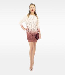 ELISABETTA FRANCHI Pulloverkleid mit Stickereien