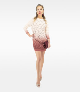 ELISABETTA FRANCHI Wool Dress with embroidery