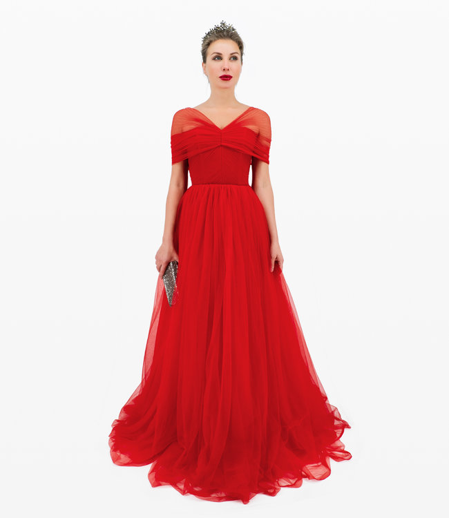 Rotes Ball Kleid