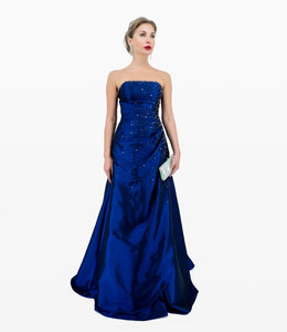 Andrea & Leo Couture Blue Ball Gown