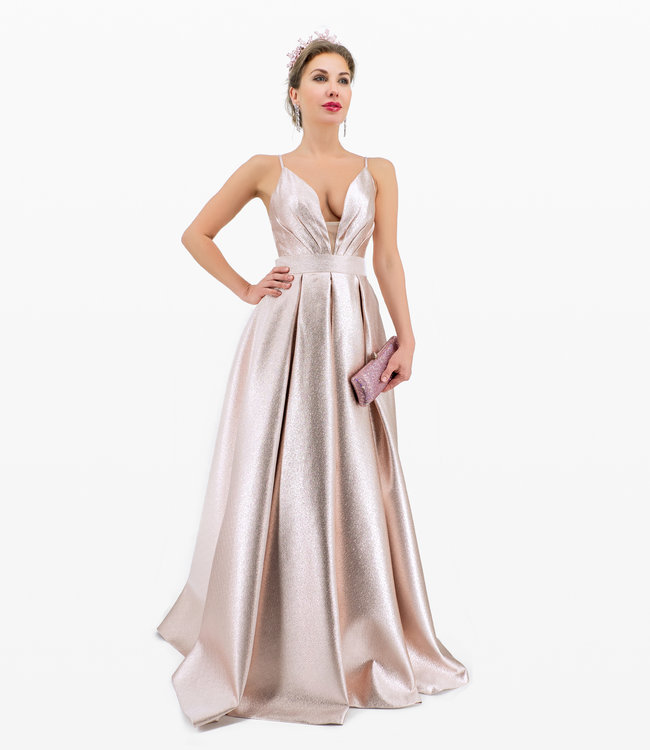 Andrea & Leo Couture  Rosegold Ball Kleid
