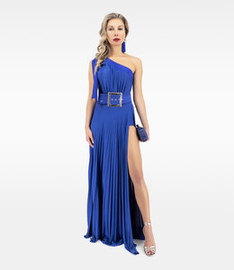 ELISABETTA FRANCHI One-shoulder long dress