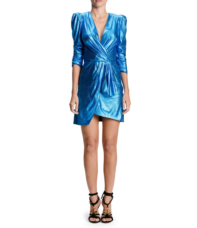 ELISABETTA FRANCHI Short dress with balloon sleeves