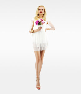 ELISABETTA FRANCHI %Kleid mit Spitze