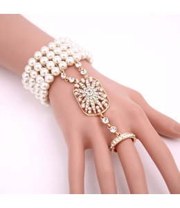 HAND MADE Simulated Pearl Bracelet