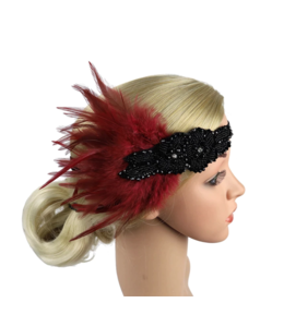 HAND MADE Headpiece Feather Flapper in varios colors