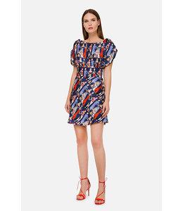 ELISABETTA FRANCHI %Kleid Mit Kurzen Ärmeln und Print