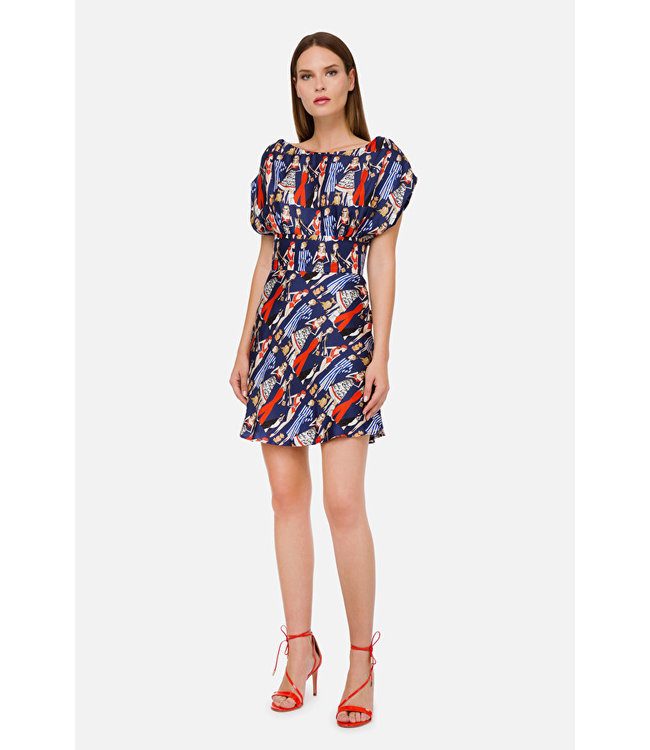 ELISABETTA FRANCHI Kleid Mit Kurzen Ärmeln und Print