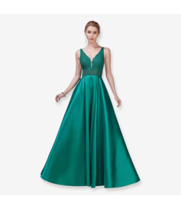 Andrea & Leo Couture Ball Gown in Jade