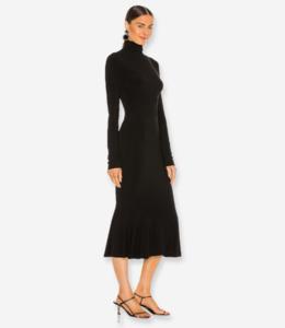 Open Back Fishtail Midi Dress