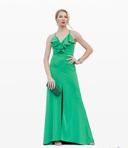 %Bodenlanges Kleid Mit Schlitz
