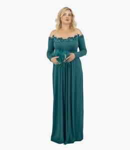 ELISABETTA FRANCHI %Long Dress With Star Emroidery