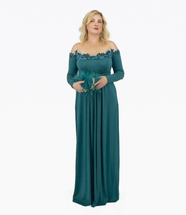 ELISABETTA FRANCHI Langes Kleid Mit Sternen