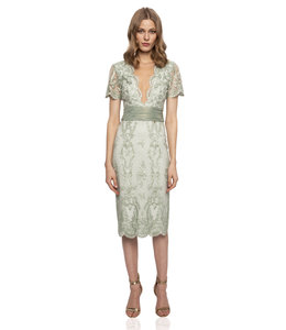 NISSA %Embroidery Cocktail Dress