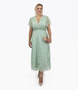 NISSA %Embroidery V Nack Dress