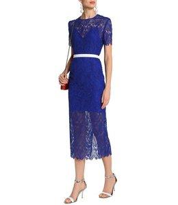 DVF % Lace Midi Dress