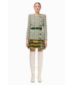 ELISABETTA FRANCHI %Dress with belt and embroidery