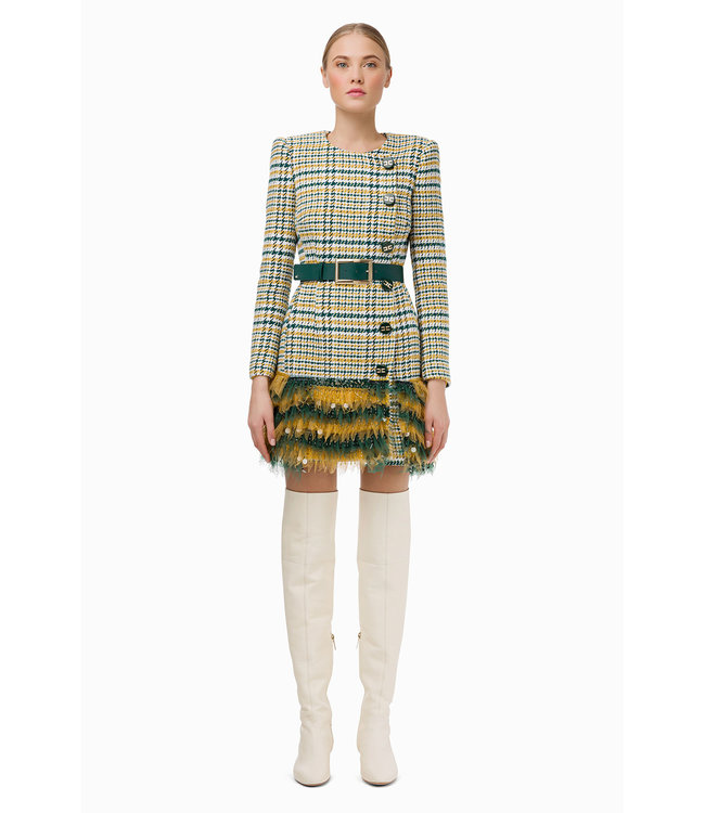 ELISABETTA FRANCHI Dress made of mix of cotton and tulle