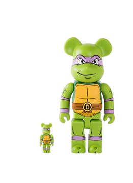 "Medicom Donatello 100% & 400% Be@rbrick ""Green"""