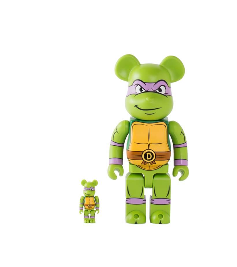 """Medicom Donatello 100% & 400% Be@rbrick """"Green"""""""