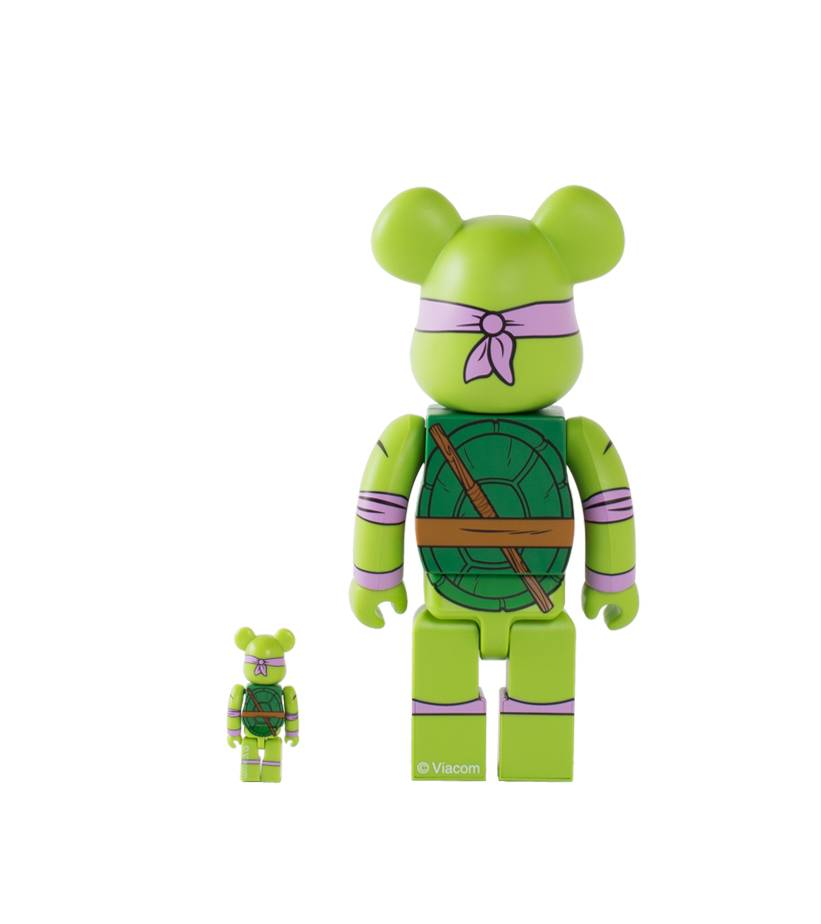 "Donatello 100% & 400% Be@rbrick ""Green""-2"