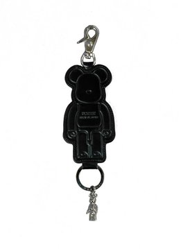 "Medicom Be@Rbrick x Yoshida Porter Leather Key Chain ""Black"""