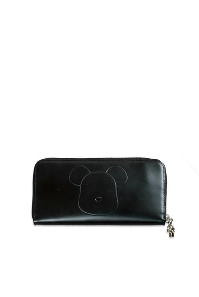 "Be@Rbrick x Yoshida Porter Leather Long Wallet ""Black"""