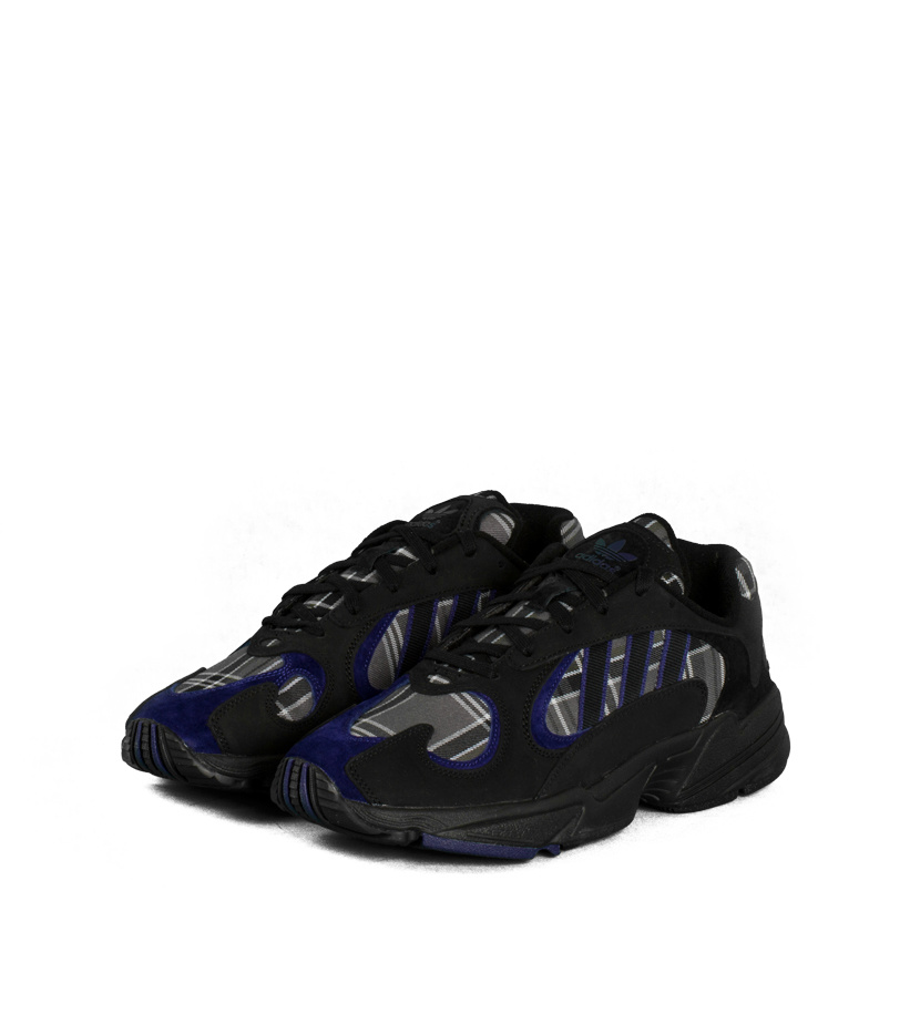 "adidas Yung 1 Tartan ""Black/Purple"""
