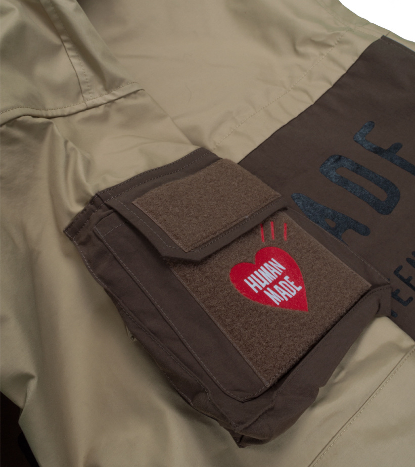 "Military Rain Jacket ""Beige""-3"