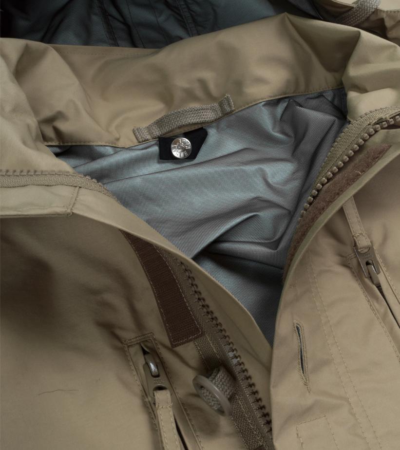 "Military Rain Jacket ""Beige""-4"