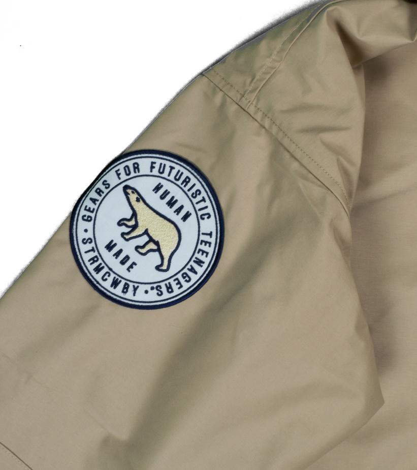 "Military Rain Jacket ""Beige""-5"