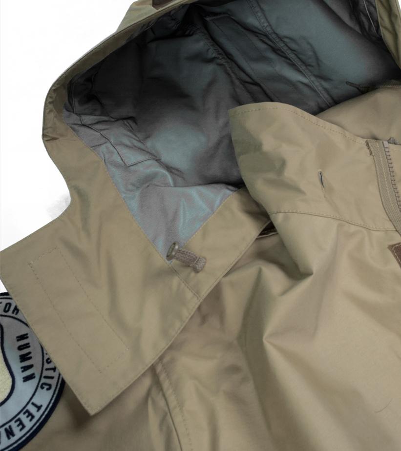 "Military Rain Jacket ""Beige""-6"
