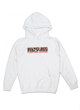 "Pleasures Feel My Face Appliqué Hoodie ""White"""