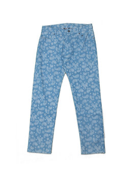 "Pleasures Paisley Denim Pants ""Washed Denim"""