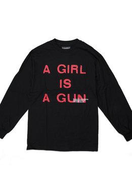 "Pleasures A Girl Is A Gun LS Tee ""Black"""